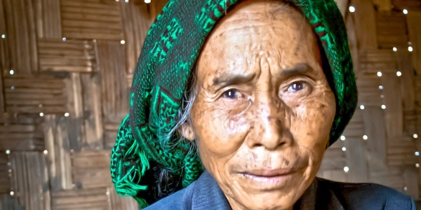 Vietnamese oude vrouw