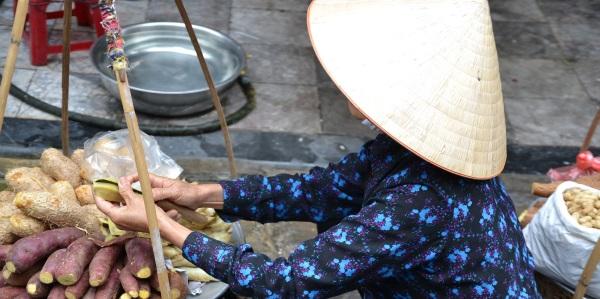 Vietnam Hanoi saleswoman