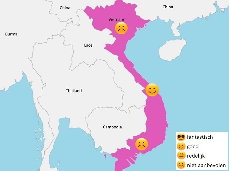 map weer vietnam juli