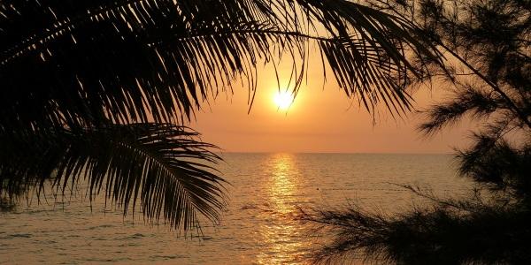 vietnam zonsondergang