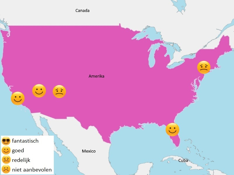 Map weer Amerika januari