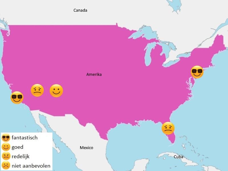 Map weer Amerika juni