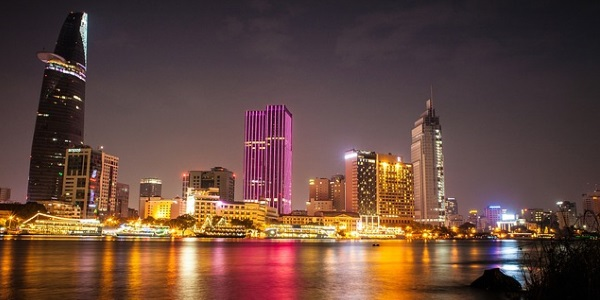 Saigon avond
