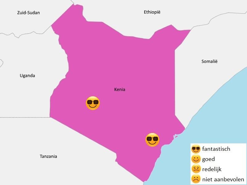 Map weer Kenia augustus