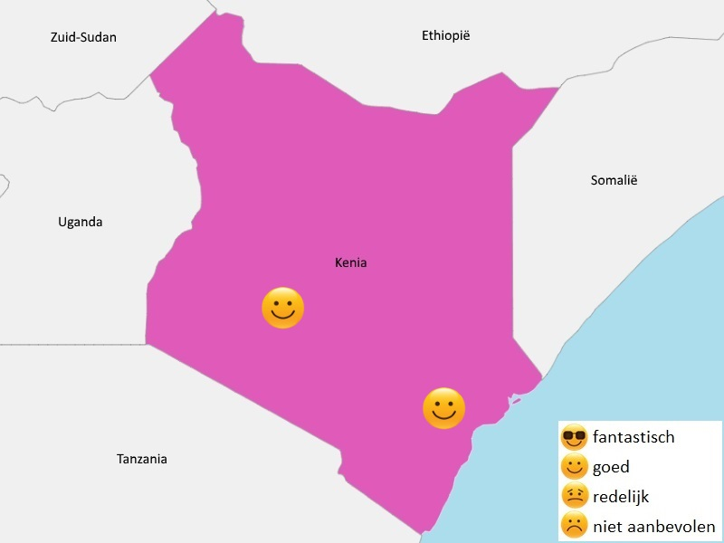 Map weer Kenia maart