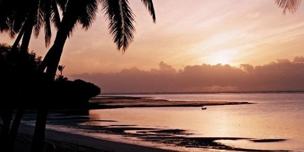 zonsondergang Keniaanse kust