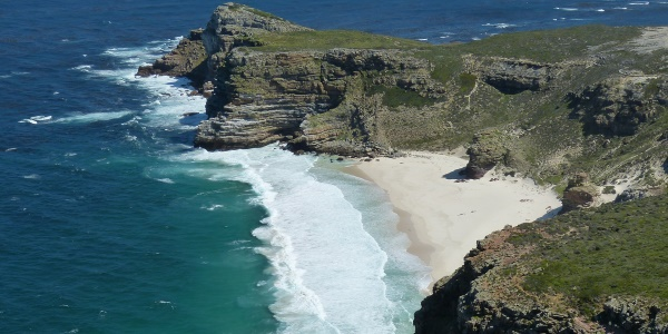 Zuid-Afrika kustlijn