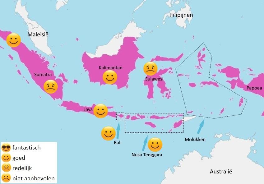 map weer Indonesië april