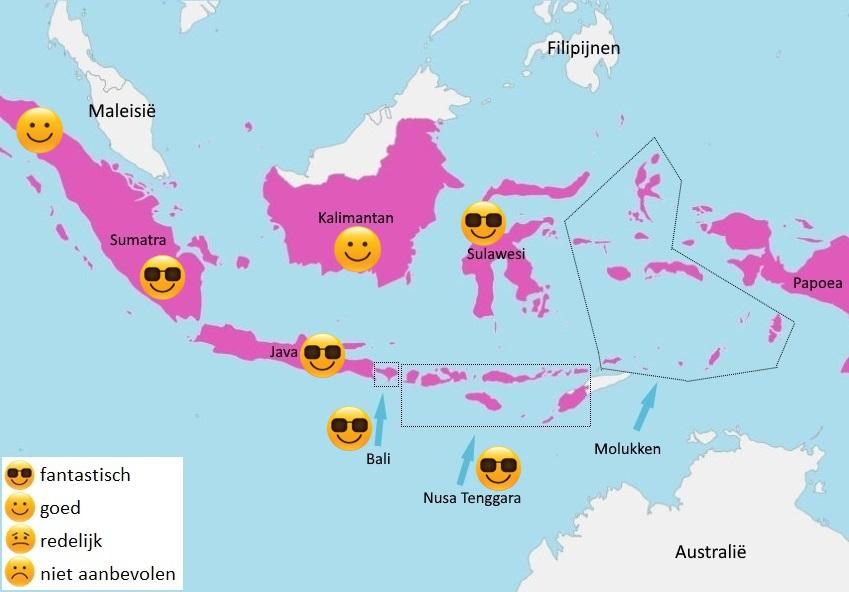 map weer Indonesië juni